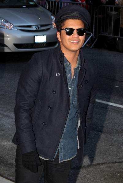 "Bruno Mars Outside ""The Late Show with David Letterman""."