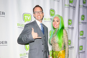 Farrah Abraham and Brad McLaughlin are seen attending Bud Ball at Wisdome Immersive Art Park in Los Angeles, California.