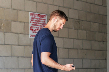 Calvin Harris Calvin Harris Goes Out in Colorful Kicks