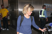Candace Cameron Bure is seen at Los Angeles International Airport in Los Angeles, California.
