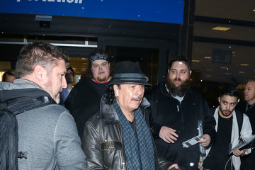 Carlos Santana Celebrities at the Salt Lake City Airport