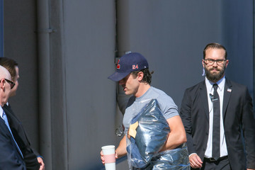 Casey Affleck Casey Affleck Leaves 'Jimmy Kimmel Live' Set