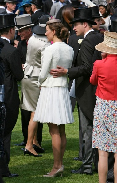 Catherine, The Duchess of Cambridge and Prince William, The Duke of Cambridge attend the 2011 Epsom Derby at Epsom Downs Racecourse.