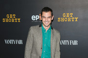 Wesley Taylor is seen arriving for the Red Carpet Premiere of EPIX Original Series 'Get Shorty' held at Pacfic Design Center in Los Angeles, California.