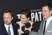 Aaron Paul, Hugh Dancy and Michelle Monaghan are seen attending the premiere of Hulu's 'The Path' at ArcLight Theatre.