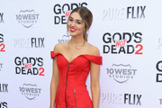 Sadie Robertson is seen attending the premiere of Pure Flix Entertainment's 'God's Not Dead 2' at Directors Guild Of America.