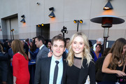 Virginia Gardner and Graham Patrick Martin are seen attending Covenant House Of California's Annual Fundraising Gala, A Night Honoring Our Stars at The Globe Theatre at Universal Studios.