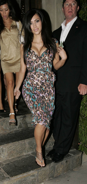 Kim Kardashian Celebrities at Koi restaurant.