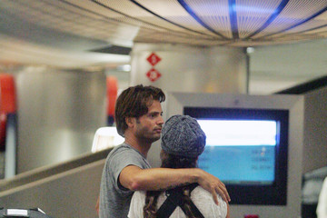 Brooke Burke David Charvet David Charvet, Brooke Burke and Vanessa Marcil at LAX