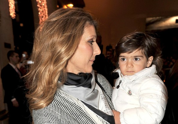 dion and son at the four seasons in this photo celine dion celine dion    Celine Dion Son