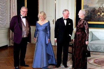 Queen Margrethe Charles and Camilla visit the Queen of Denmark