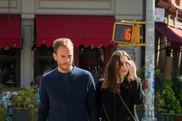 Charlie McDowell Charlie McDowell and Rooney Mara Out for a Walk
