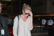 Charlize Theron Spotted at LAX