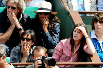 Charlotte Gainsbourg Yvan Attal Charlotte Gainsbourg and Yvan Attal at the match