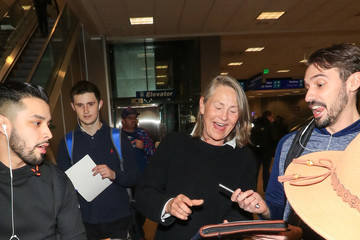 Cherry Jones Celebrities Arrive for the Sundance Film Festival at Salt Lake City Airport