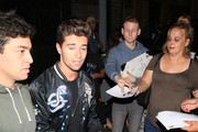 Chloe Bennet and Jake Miller are seen in Los Angeles, California on August 8, 2017.