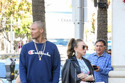 Chloe Green and Jeremy Meeks are seen out in Los Angeles, California on Dec. 15, 2017.