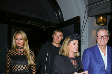 Chris Zylka Paris Hilton Visits Craig's Restaurant in Beverly Hills