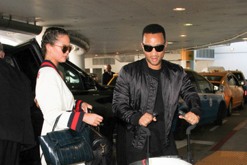 Chrissy Teigen Chrissy Teigen and John Legend Take a Flight at LAX
