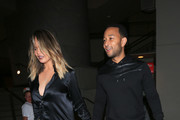 Chrissy Teigen and John Legend Leave The Movies