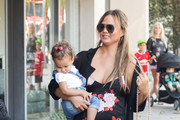 Chrissy Teigen and Daughter Luna Out and About