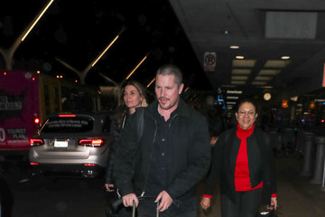 Christian Bale Christian Bale Is Seen at LAX