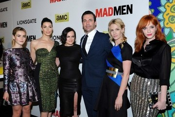 Christina Hendricks Elisabeth Moss 'Mad Men' Season 7 Premiere in Hollywood