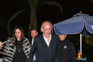 Christopher Lloyd Christopher Lloyd Outside The Hearth And Hound Restaurant In Hollywood