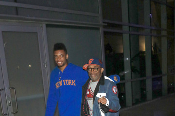 Cinque Lee Spike Lee and Cinque Lee at Lakers vs Clippers Game at Staples Center