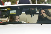 Mischa Barton and Cisco Adler stop for food on Malibu's Pacific Coast Highway on a sunny day.