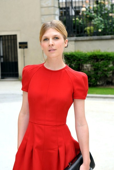 Clemence Poesy - Celebs at the Valentino Show in Paris