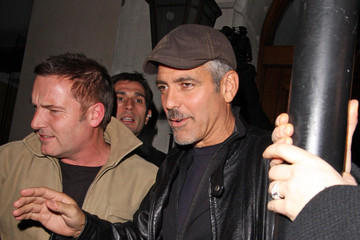 George Clooney George Clooney and Luciana Barroso at Nobu