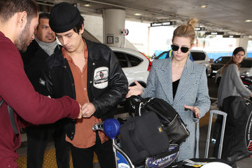 Cole Sprouse Lili Reinhart And Cole Sprouse at LAX