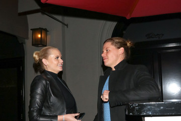 Conrad Sewell Alli Simpson Outside Craig's Restaurant In West Hollywood