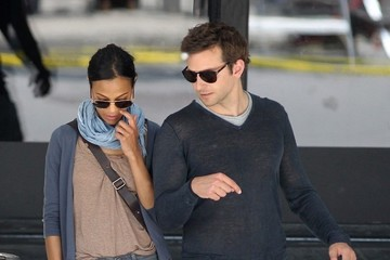 Zoe Saldana Bradley Cooper Bradley Cooper Out and About in NYC 2