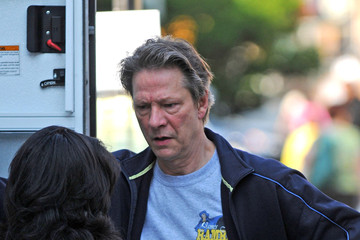 Chris Cooper Anderson Cooper on the Set of 'Remember Me'