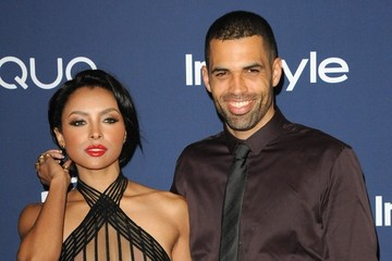 Cottrell Guidry Kat Graham Arrivals at the InStyle/Warner Bros. Golden Globes Party