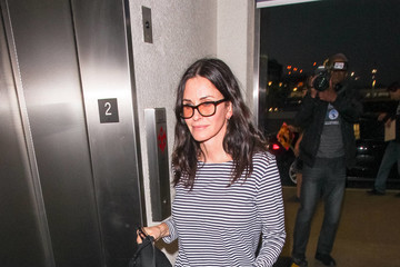 Courteney Cox Courteney Cox Hits LAX