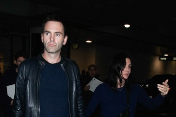 Courteney Cox Courteney Cox and Johnny McDaid at LAX — Part 2