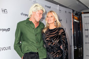 Jordan Barrett and Kate Moss are seen attending The Daily Front Row's 7th annual Fashion Media Awards at The Rainbow Room in New York City.
