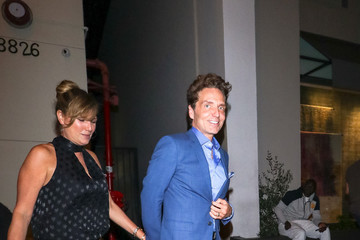 Daisy Fuentes Richard Marx Outside Craig's Restaurant In West Hollywood
