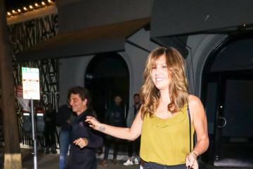 Daisy Fuentes Richard Marx And Daisy Fuentes Outside Craig's Restaurant In West Hollywood