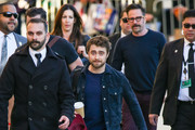 Daniel Radcliffe is seen arriving at 'Jimmy Kimmel Live' in Los Angeles, California on February 6, 2019.