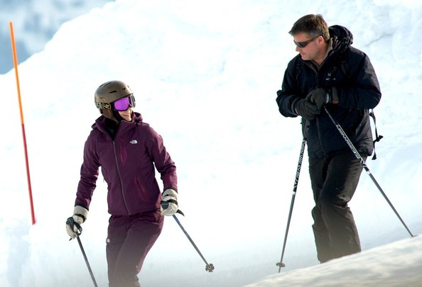 Frederik, Crown Prince of Denmark and Mary, Crown Princess of Denmark enjoy each others company while on a romantic ski ski getaway.