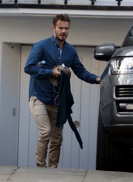 David Beckham Does Morning Training
