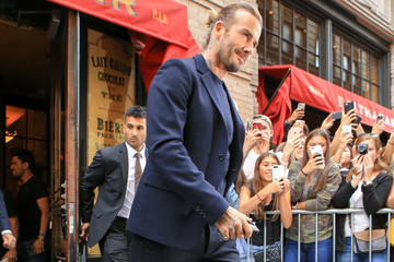 David Beckham David Beckham Hits NYC