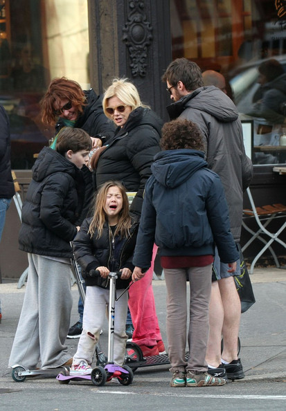 hugh jackman and family out and about in this photo hugh jackman