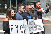 Deena Nicole Cortese, Vinny Guadagnino, Michael Sorrentino, Ronnie Ortiz-Magro and Pauly D are seen in Los Angeles, California on June 15, 2018.