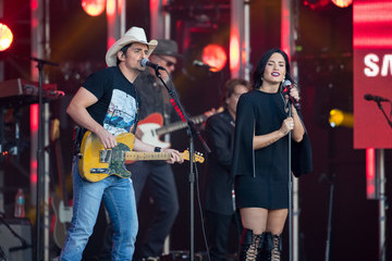Demi Lovato Brad Paisley and Demi Lovato at 'Jimmy Kimmel Live'