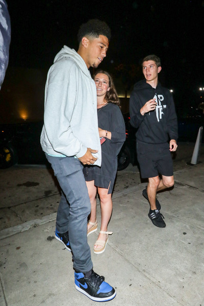Devin Booker Outside Craig's Restaurant In West Hollywood